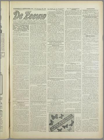 De Zeeuw. Christelijk-historisch nieuwsblad voor Zeeland 1943-09-29