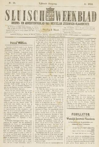 Sluisch Weekblad. Nieuws- en advertentieblad voor Westelijk Zeeuwsch-Vlaanderen 1874-03-03