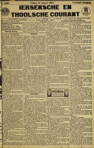 Ierseksche en Thoolsche Courant 1924-01-11
