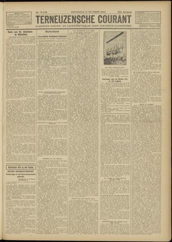 Ter Neuzensche Courant. Algemeen Nieuws- en Advertentieblad voor Zeeuwsch-Vlaanderen / Neuzensche Courant ... (idem) / (Algemeen) nieuws en advertentieblad voor Zeeuwsch-Vlaanderen 1942-10-21