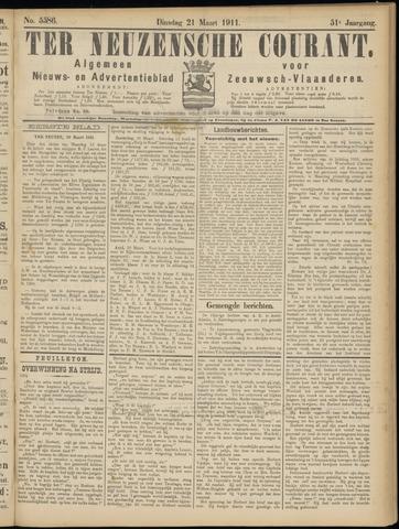 Ter Neuzensche Courant. Algemeen Nieuws- en Advertentieblad voor Zeeuwsch-Vlaanderen / Neuzensche Courant ... (idem) / (Algemeen) nieuws en advertentieblad voor Zeeuwsch-Vlaanderen 1911-03-21