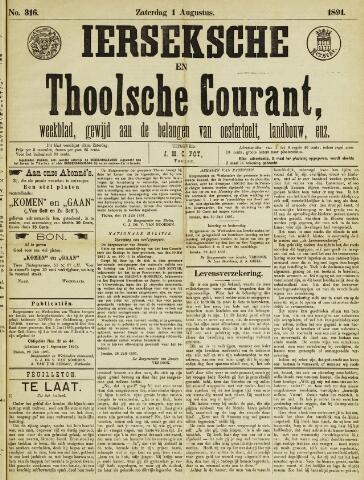 Ierseksche en Thoolsche Courant 1891-08-01