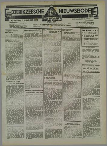 Zierikzeesche Nieuwsbode 1940-11-13