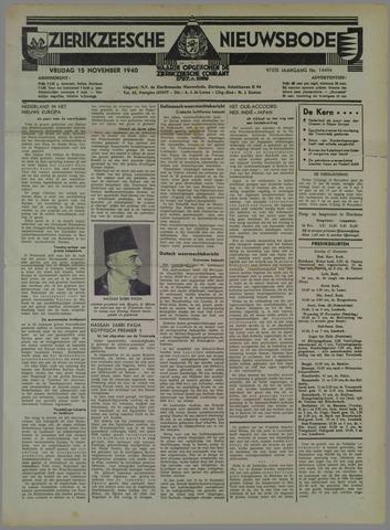 Zierikzeesche Nieuwsbode 1940-11-15