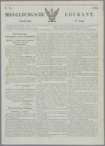 Middelburgsche Courant 1854-06-22