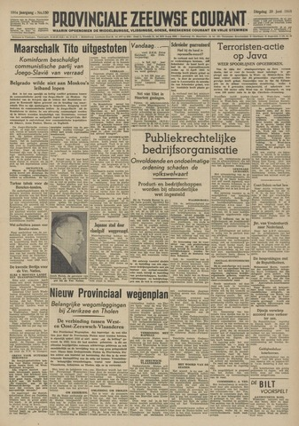 Provinciale Zeeuwse Courant 1948-06-29