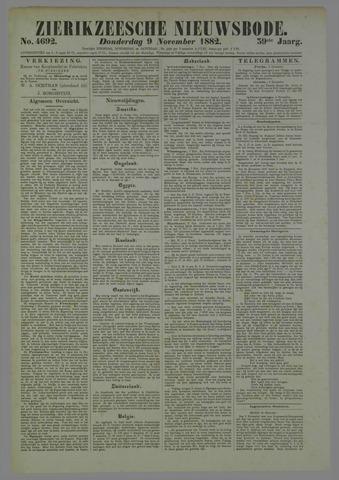 Zierikzeesche Nieuwsbode 1882-11-09