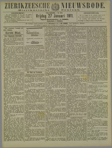 Zierikzeesche Nieuwsbode 1911-01-27