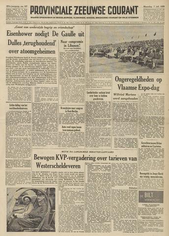 Provinciale Zeeuwse Courant 1958-07-07