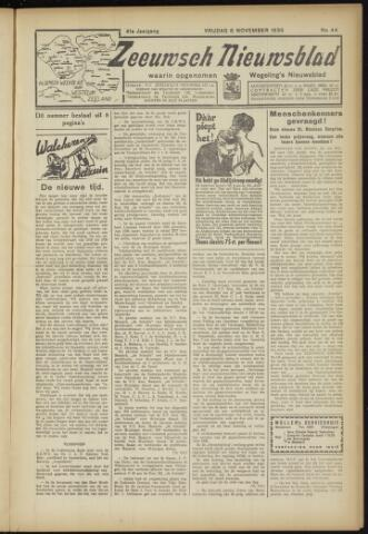 Zeeuwsch Nieuwsblad/Wegeling's Nieuwsblad 1935-11-08