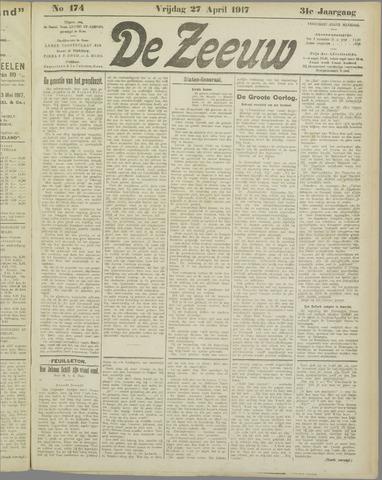 De Zeeuw. Christelijk-historisch nieuwsblad voor Zeeland 1917-04-27