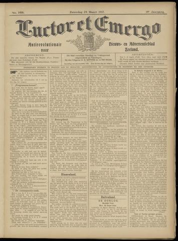 Luctor et Emergo. Antirevolutionair nieuws- en advertentieblad voor Zeeland / Zeeuwsch-Vlaanderen. Orgaan ter verspreiding van de christelijke beginselen in Zeeuwsch-Vlaanderen 1917-03-24
