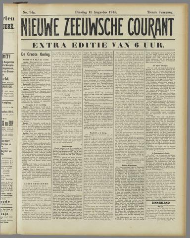 Nieuwe Zeeuwsche Courant 1914-08-11