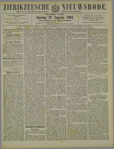 Zierikzeesche Nieuwsbode 1904-08-27