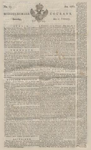 Middelburgsche Courant 1762-02-27