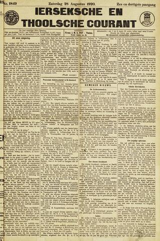 Ierseksche en Thoolsche Courant 1920-08-28