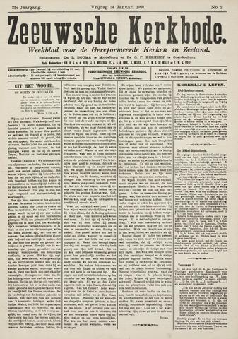 Zeeuwsche kerkbode, weekblad gewijd aan de belangen der gereformeerde kerken/ Zeeuwsch kerkblad 1921-01-14