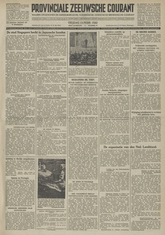 Provinciale Zeeuwse Courant 1942-02-13