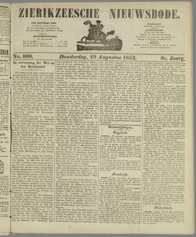 Zierikzeesche Nieuwsbode 1852-08-19