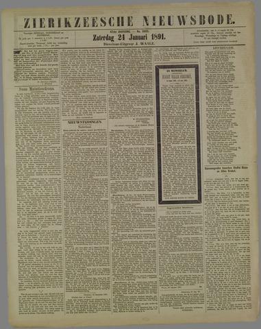 Zierikzeesche Nieuwsbode 1891-01-24