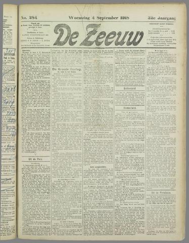 De Zeeuw. Christelijk-historisch nieuwsblad voor Zeeland 1918-09-04
