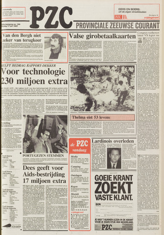 Provinciale Zeeuwse Courant 1987-07-17