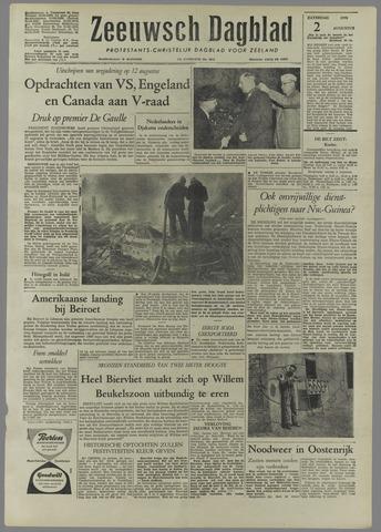 Zeeuwsch Dagblad 1958-08-02