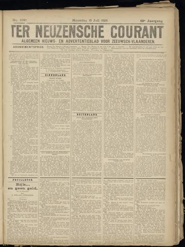 Ter Neuzensche Courant. Algemeen Nieuws- en Advertentieblad voor Zeeuwsch-Vlaanderen / Neuzensche Courant ... (idem) / (Algemeen) nieuws en advertentieblad voor Zeeuwsch-Vlaanderen 1929-07-15