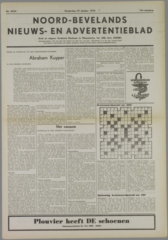 Noord-Bevelands Nieuws- en advertentieblad 1970-10-29