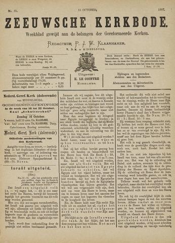 Zeeuwsche kerkbode, weekblad gewijd aan de belangen der gereformeerde kerken/ Zeeuwsch kerkblad 1887-10-15