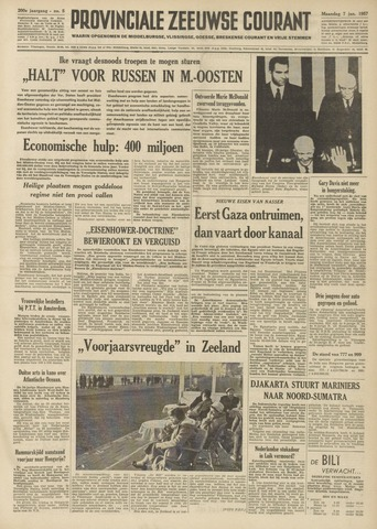 Provinciale Zeeuwse Courant 1957-01-07