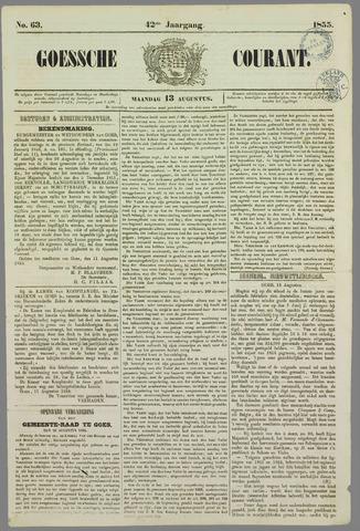 Goessche Courant 1855-08-13