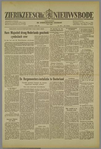 Zierikzeesche Nieuwsbode 1952-04-07