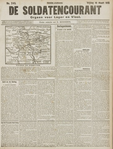 De Soldatencourant. Orgaan voor Leger en Vloot 1916-03-10