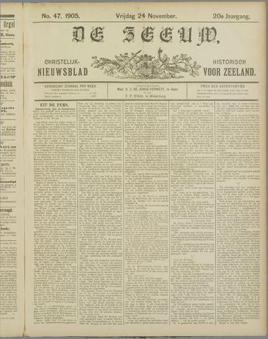 De Zeeuw. Christelijk-historisch nieuwsblad voor Zeeland 1905-11-24