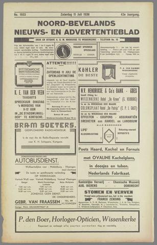 Noord-Bevelands Nieuws- en advertentieblad 1936-07-11