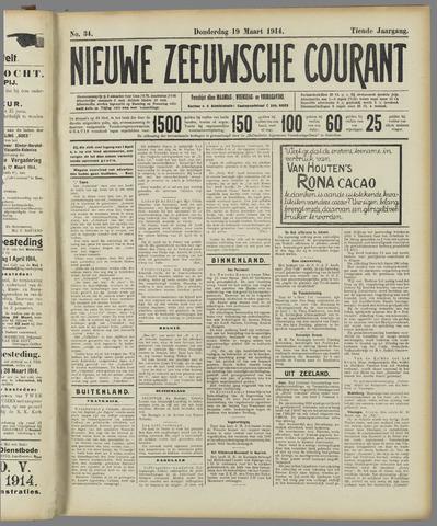 Nieuwe Zeeuwsche Courant 1914-03-19