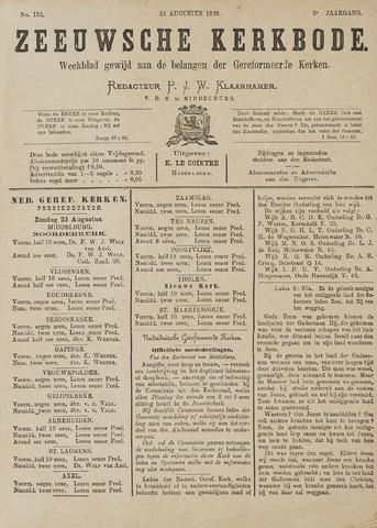 Zeeuwsche kerkbode, weekblad gewijd aan de belangen der gereformeerde kerken/ Zeeuwsch kerkblad 1889-08-24