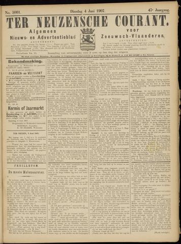 Ter Neuzensche Courant. Algemeen Nieuws- en Advertentieblad voor Zeeuwsch-Vlaanderen / Neuzensche Courant ... (idem) / (Algemeen) nieuws en advertentieblad voor Zeeuwsch-Vlaanderen 1907-06-04