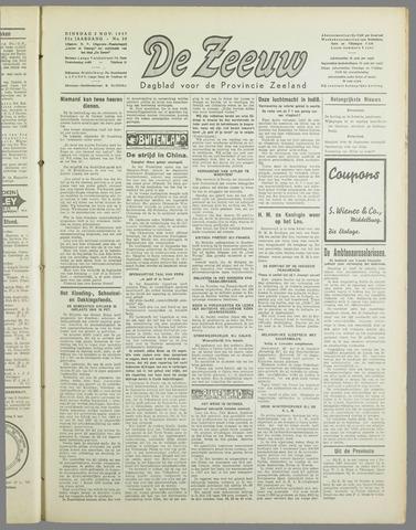De Zeeuw. Christelijk-historisch nieuwsblad voor Zeeland 1937-11-02