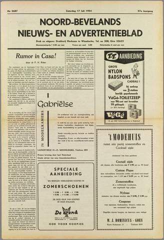 Noord-Bevelands Nieuws- en advertentieblad 1954-07-17
