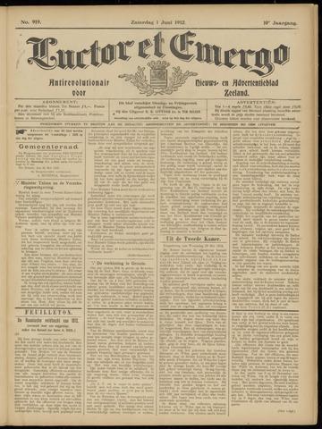 Luctor et Emergo. Antirevolutionair nieuws- en advertentieblad voor Zeeland / Zeeuwsch-Vlaanderen. Orgaan ter verspreiding van de christelijke beginselen in Zeeuwsch-Vlaanderen 1912-06-01