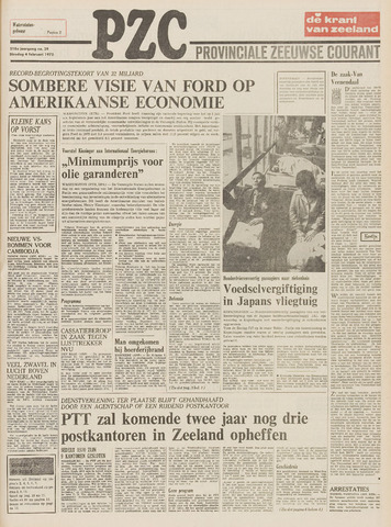Provinciale Zeeuwse Courant 1975-02-04