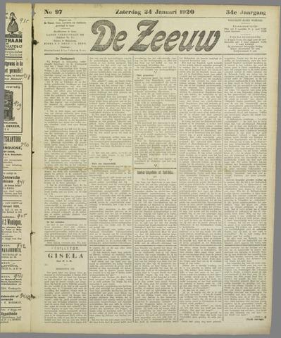 De Zeeuw. Christelijk-historisch nieuwsblad voor Zeeland 1920-01-24