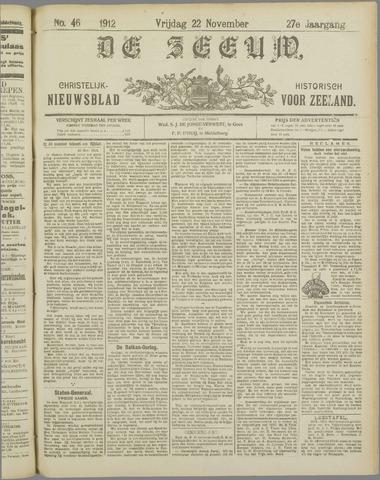 De Zeeuw. Christelijk-historisch nieuwsblad voor Zeeland 1912-11-22
