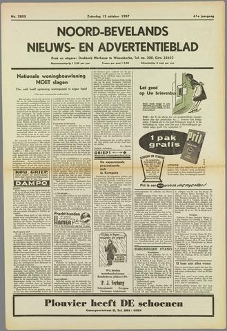 Noord-Bevelands Nieuws- en advertentieblad 1957-10-12