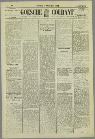 Goessche Courant 1924-08-05
