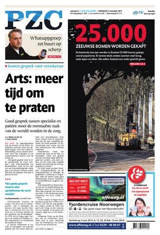 Provinciale Zeeuwse Courant 2015-11-04