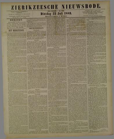 Zierikzeesche Nieuwsbode 1889-07-23