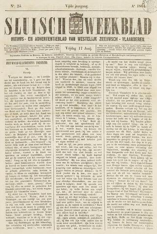 Sluisch Weekblad. Nieuws- en advertentieblad voor Westelijk Zeeuwsch-Vlaanderen 1864-06-17